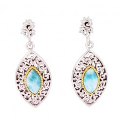 E-0164 Larimar Jewelry Earrings by MelyMar - An MJM International, co.