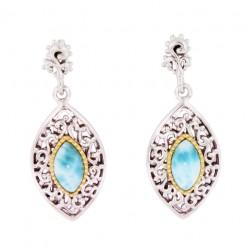 E-0164 Larimar Jewelry Earrings by MelyMar - An MJM International, co.