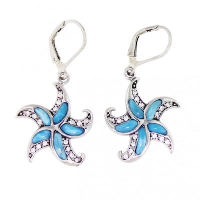 NEA3222 Larimar Jewelry Earrings by MelyMar - An MJM International, co.