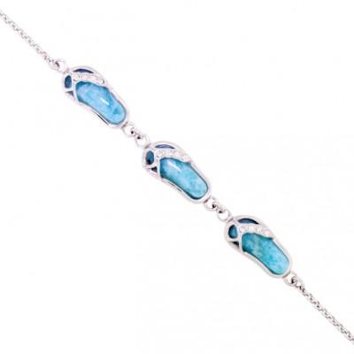 NB1454 Larimar Jewelry Bracelet by MelyMar - An MJM International, co.