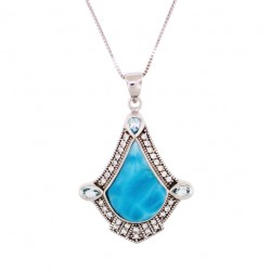 NP9990 Larimar Jewelry Pendant by MelyMar – An MJM International, co.