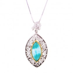 PS-0831 Larimar Jewelry Pendant by MelyMar - By MJM International, co.