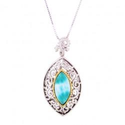 PS-0831 Larimar Jewelry Pendant by MelyMar - By MJM International, co.